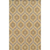 Rizzy Home Ivory/ Grey Rockport Collection 100-percent Wool Hand-Tufted Accent Rug - 8' x 10'