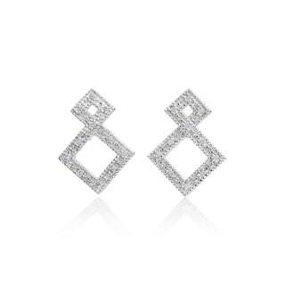 SummerRose, 14k white gold Fashion Diamond Earring, 0.18TDW (H-I, SI1-SI2)