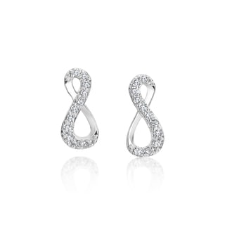 SummerRose, 14k white gold Diamond Figure 8 Earrings, 0.22TDW (H-I, SI1-SI2)