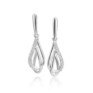 SummerRose, 14k white gold Diamond Fashion Earring, 0.10TDW