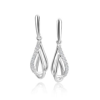 SummerRose 14k White Gold 1/10ct TDW Diamond Dangle Earrings