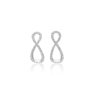 SummerRose, 14k white gold Infinity Diamond Earring, 0.40TDW (H-I, SI1-SI2)