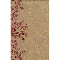 Rizzy Home Ivory/ Brown Rockport Collection 100-percent Wool Hand-Tufted Accent Rug - 9' x 12'