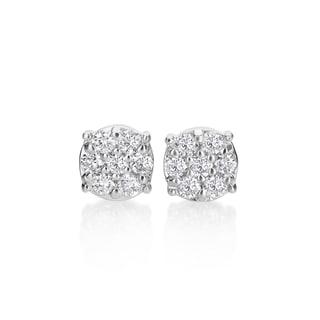 SummerRose, 14k white gold Diamond Studd Earrings, 0.70TDW (H-I, SI1-SI2)