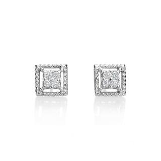 SummerRose, 14kt white gold Fashion Diamond Earrings, 0.16 TDW (H-I, SI1-SI2)