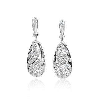 SummerRose, 14k White Gold Diamond Fashion Earrings, 0.50TDW (H-I, SI1-Si2)