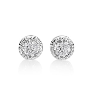 SummerRose, 14kt white gold Diamond Studd Earrings 0.10cttw (H-I, SI1-SI2)