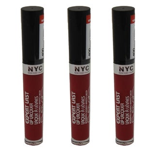 N.Y.C. New York Color Expert Last Big City Berry Lip Lacquer (Pack of 3)