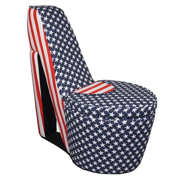 Shop American Flag High Heels Storage Chair Free