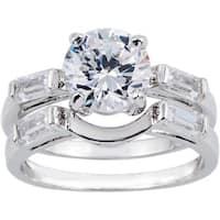 Simon Frank 1.67ct CZ 2-piece Wedding/ Bridal Set - Silver