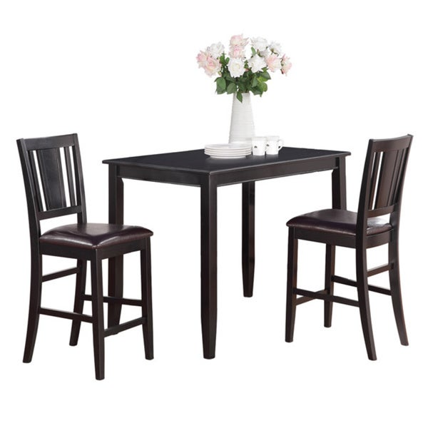 Shop Black High Table And 2 Stools 3 Piece Dining Set