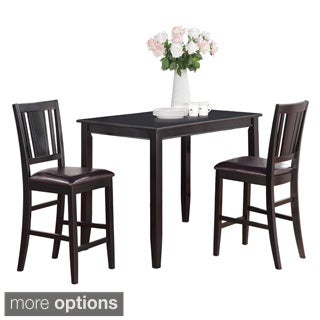 Black High Table and 2 Stools 3-piece Dining Set