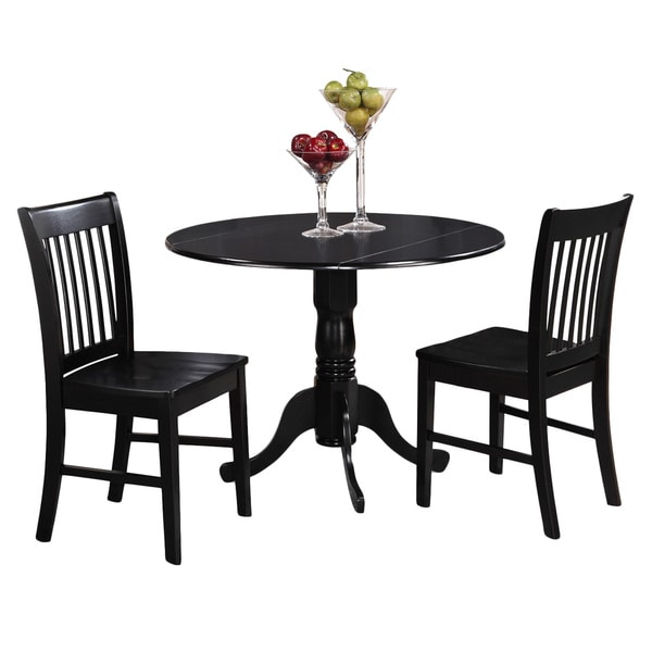 Kitchen Dinette Set: Shop Black Kitchen Table Plus 2 Dinette Chairs 3-piece