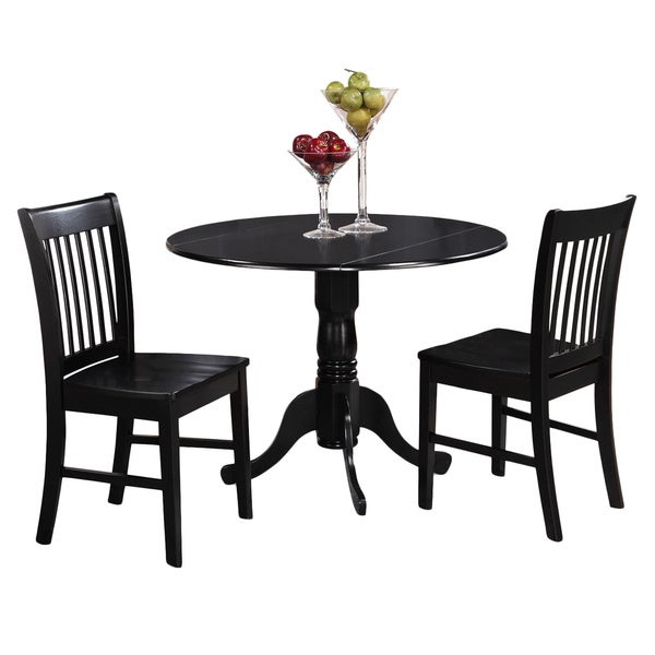 Shop Black Kitchen Table Plus 2 Dinette Chairs 3-piece