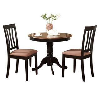 Round kitchen dining room sets for less overstock black round kitchen table plus 2 dining room chairs 3 piece dining set workwithnaturefo