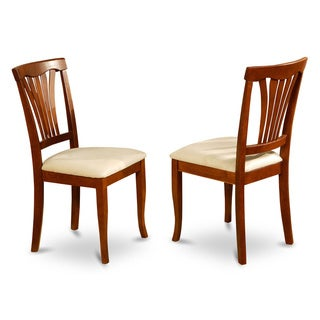 Brown Avon Chair in Saddle Brown Finish (Set of 2)