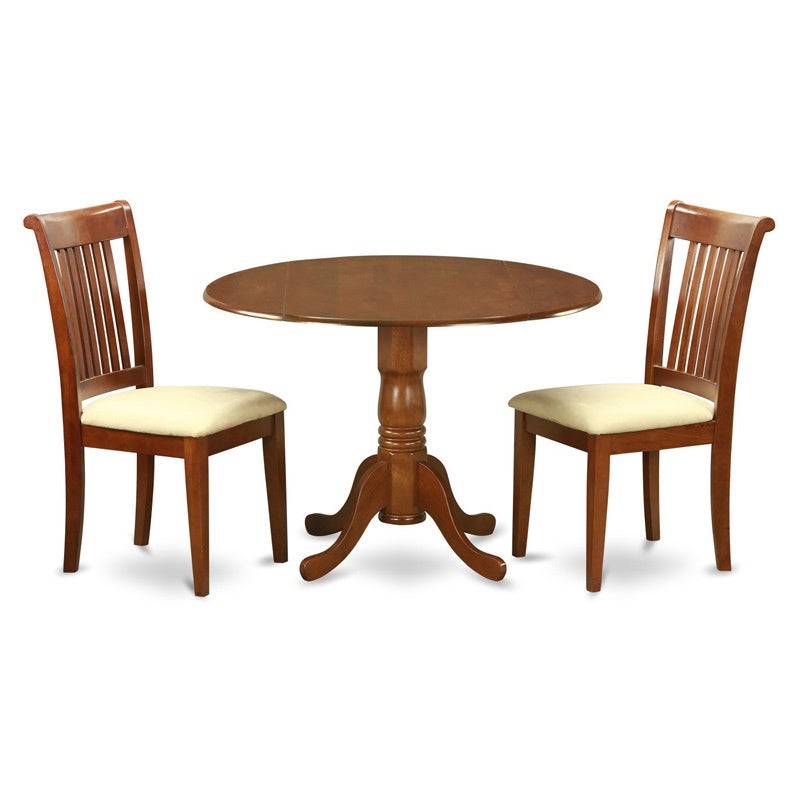 Saddle Brown Breakfast Nook Plus 2 Dinette Chairs 3-piece...