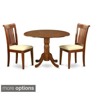 Saddle Brown Breakfast Nook Plus 2 Dinette Chairs 3-piece Dining Set