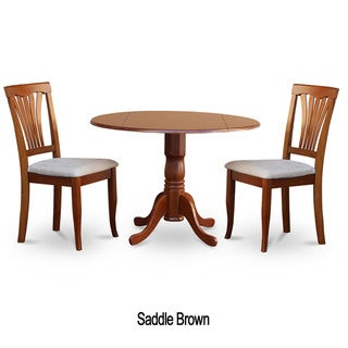 Link to Saddle Brown Round Kitchen Table and 2 Dinette Chairs 3-piece Dining Set Similar Items in Dining Room & Bar Furniture