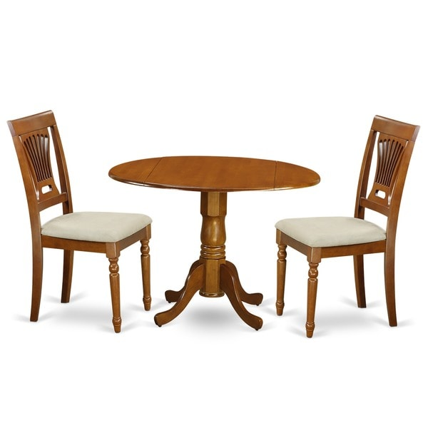 shop saddle brown small kitchen table and 2 chairs 3 piece dining set free shipping today. Black Bedroom Furniture Sets. Home Design Ideas