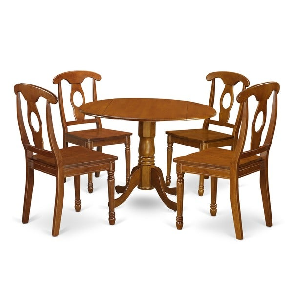 saddle brown small table plus 4 chairs 5 piece dining set free