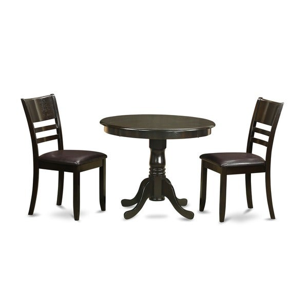 cappuccino round kitchen table with 2 chairs 3 piece dining set free