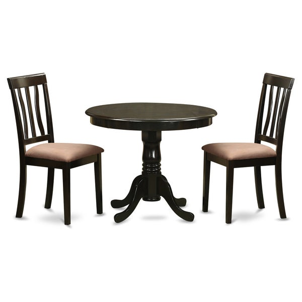 Shop Cappuccino Round Table Plus 2 Kitchen Chairs 3-piece