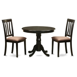 Cappuccino Round Table Plus 2 Kitchen Chairs 3-piece Dining Set