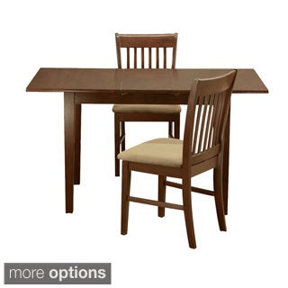 Mahogany 12-inch Leaf and 2 Dining Room Chairs 3-piece Dining Set