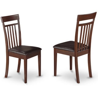 Mahogany Capri Slat Back Chair in Mahogany Finish (Set of 2)