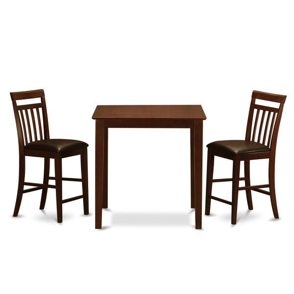 counter height table and 2 counter height chairs 3 piece dining set