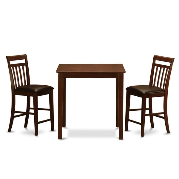 3 Piece Dining Set Bar Stools Pub Table Breakfast Chairs: Shop Mahogany Counter Height Table And 2 Counter Height