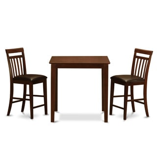 Mahogany Counter Height Table and 2 Counter Height Chairs 3-piece Dining Set