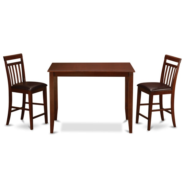 Mahogany Counter Height Table and 2 Kitchen Chairs 3-piece Dining Set ...
