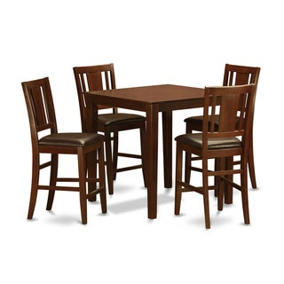 Mahogany Counter Height Table and 4 Stools 5-piece Dining Set