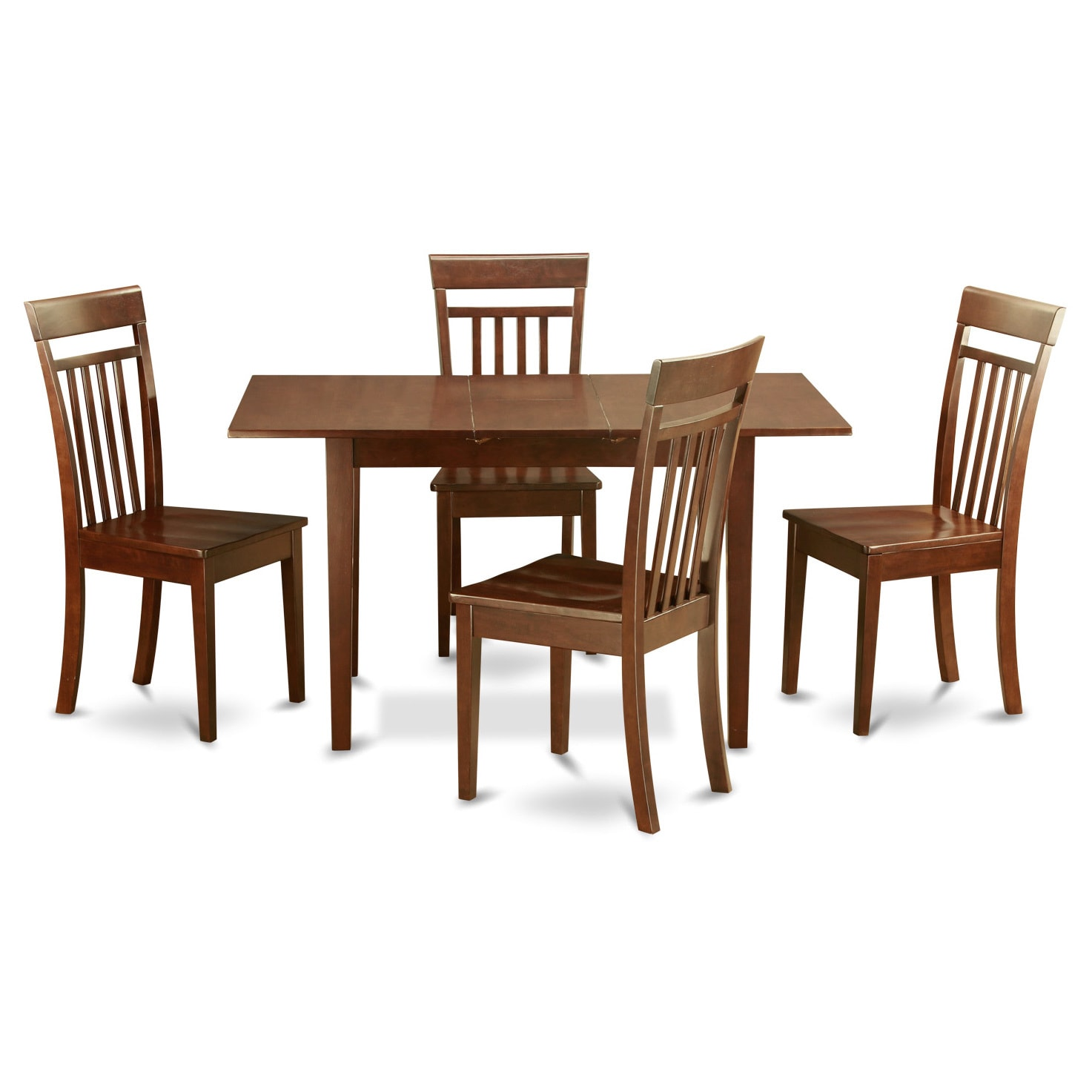 Mahogany Dining Room Table And 4 Dining Room Chairs Chairs 5 Piece Dining Set On Sale Overstock 10201122
