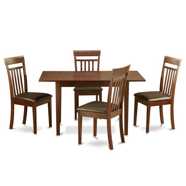 mahogany dining room table and 4 dining room chairs chairs 5 piece