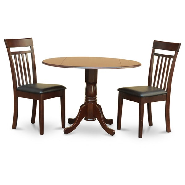 Mahogany Drop Leaf Table And 2 Chairs 3 Piece Dining Set