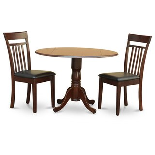 Mahogany Drop Leaf Table and 2 Chairs 3-piece Dining Set (Option: Mahogany)