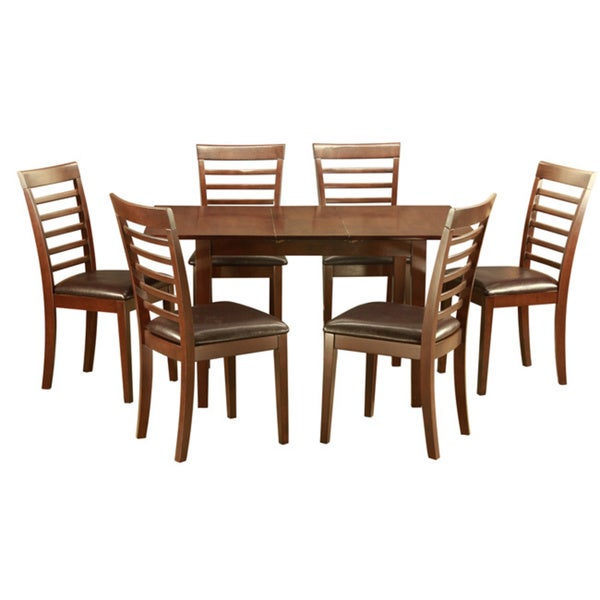 Cheap Dinette Sets Free Shipping: Shop Mahogany Kitchen TableA Leaf And 6 Kitchen Chairs 7
