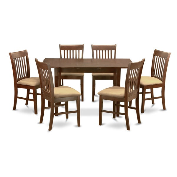 Brussels Traditional Dining Room Set 7 Piece Set: Shop Mahogany Leaf And 6 Dining Room Chairs 7-piece Dining