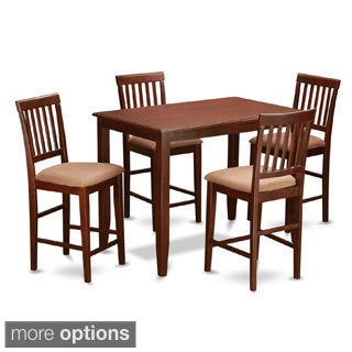 Mahogany Pub Table and 4 Kitchen Chairs 5-piece Dining Set