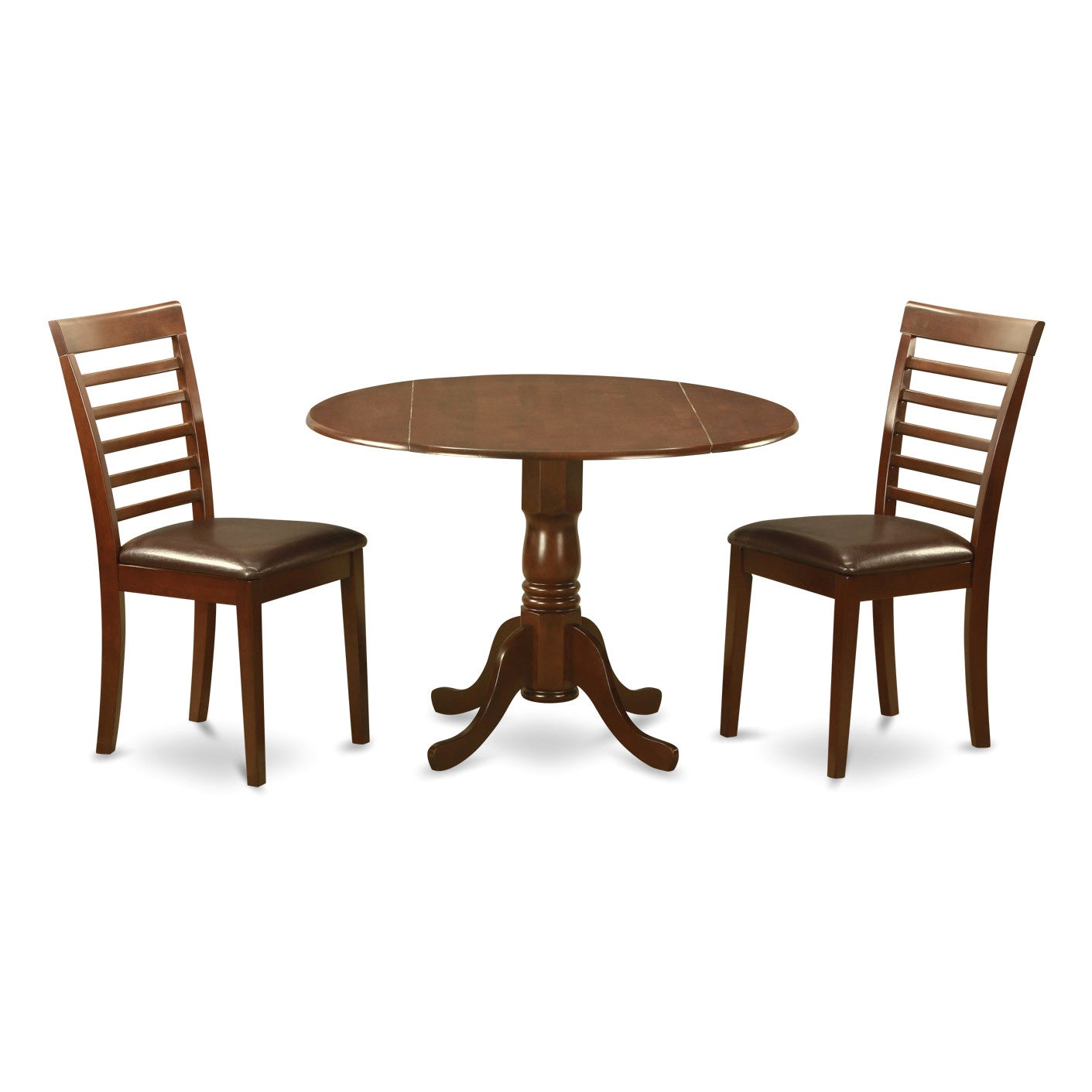 Shop Mahogany Round Kitchen Table And 2 Chairs 3 Piece Dining Set On Sale Overstock 10201127