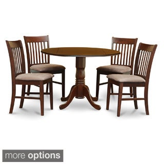 Mahogany Round Table and Dinette Chairs 5-piece Dining Set