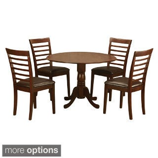 Mahogany Small Kitchen Table and 4 Chairs 5-piece Dining Set