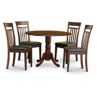 Mahogany Small Table Plus 4 Kitchen Chairs 5-piece Dining Set