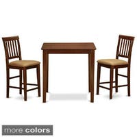 Mahogany Square Gathering Table and 2 Stools 3-piece Dining Set