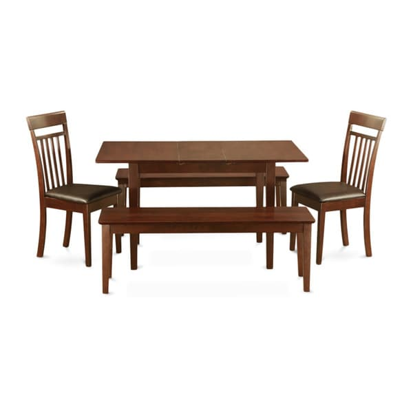 Shop Mahogany Table Leaf Plus 2 Kitchen Chairs And 2