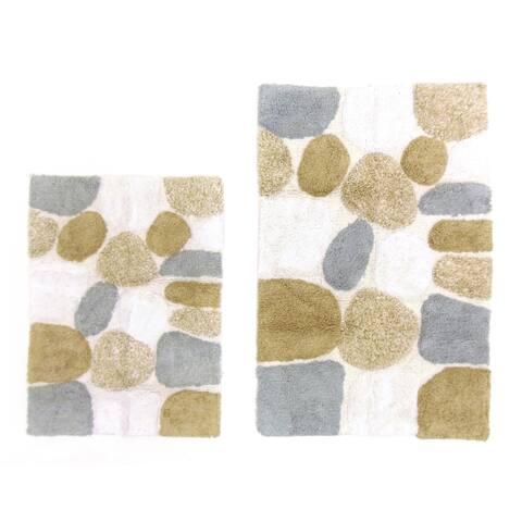 Celebration Pebble Stones 2-piece Bath Rug Set - 21 x 32