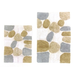 Celebration Pebble Stones 2-piece Bath Rug Set